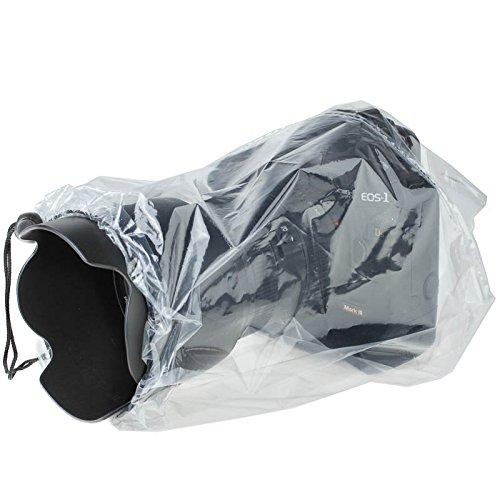 JJC RI-S Einweg-Regenschutzhülle (Regenschutz, Regenhülle) - z.B. für spiegellose Systemkameras (DSLM-Kameras) - 2 STK. - transparent