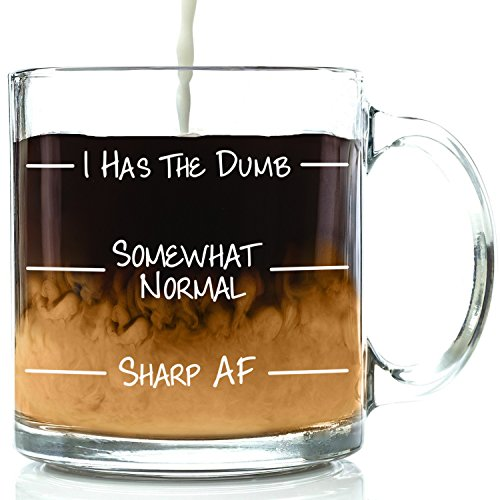 Sharp AF Funny Coffee Mug - Best Novelty Christmas Gifts for Men, Women, Husband, Wife - Cool Xmas Gag Gift Ideas for Him, Her, Dad, Mom from Son, Daughter - Unique Birthday Present - Fun Glass Cup