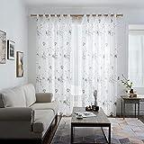 PENVEAT Floral Sheer Fenstervorhänge für Wohnzimmer Schlafzimmer Vorhänge für die Küche...