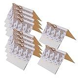 10x Vintage Hochzeit Partei Spitze-Tabellennummer / Einladung / Name / Platzkarten # 1 - 2