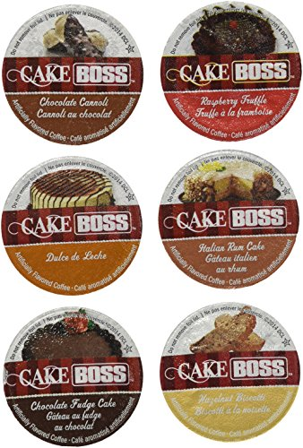 30-count Cake Boss Flavored Coffee Single Serve Cups For Keurig K cup brewer Variety Pack Sampler