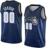 CXJ Camiseta De Baloncesto para Hombre - Camiseta De La NBA Orlando Magic # 00 Aaron Gordon Camisetas Retro Tejido Transpirable Fresco Swingman Chaleco Sin Mangas Ropa Superior,M