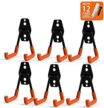 6-Pack CoolYeah Steel Garage Storage Utility Double Hooks