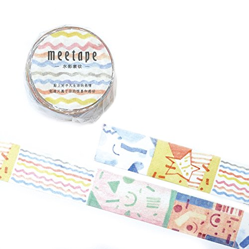 Signature Collection Designer Washi Tape: Perfect Multi Purpose Colored Masking Tape for Walls, Arts and Crafts, DIY, Scrapbook - 20mm x 10m (Diversos)