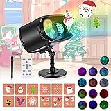 Luces Proyector de Navidad, AGPTEK Decoración Luz de Proyector Exterior Impermeable con Diapositivas Incorporado,...