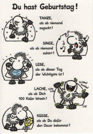 Sheepworld Geburtstagskarte Tanze Singe Lebe