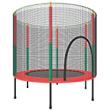 55' Trampoline for Kids - Mini Toddler Trampoline with Enclosure for Indoor,ASTM Approved Safty Sport Trampoline for Family Happy Time,Gifts for Boys Girls