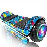 "XPRIT 6.5"" Hoverboard Self-Balance Two Wheel w/Built-in Wireless Speaker (Image Blue)"
