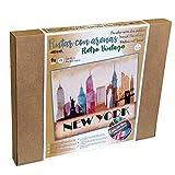 Arenart | 1 Lámina de Nueva York Skyline 46x38cm | para Pintar con Arenas de Colores | Manualidades para Adultos y Jóvenes | Dibujo Fácil | Pintar por números | +9 años