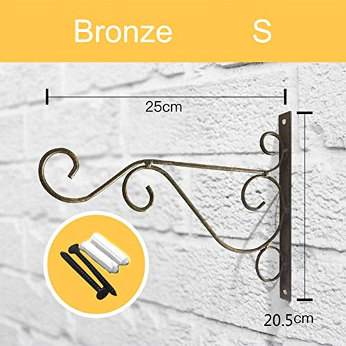 MJYTWall Hanging Brackets Hooks Indoor Outdoor Macrame Plant potmetal Holder Decoration for Garden