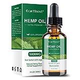 ECO finest Hemp Oil 5000mg - Pain Relief Anxiety Sleep Mood Stress Pure Natural Organic Hemp Seed Extract