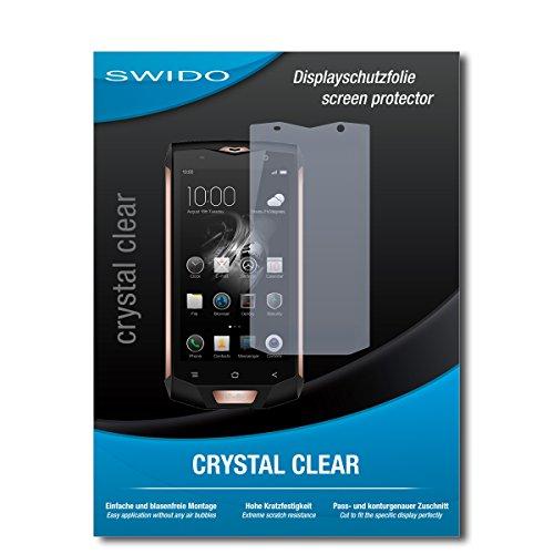 SWIDO Bildschirmschutz für Blackview BV8000 Pro [4 Stück] Kristall-Klar, Hoher Festigkeitgrad, Schutz vor Öl, Staub & Kratzer/Schutzfolie, Bildschirmschutzfolie, Panzerglas Folie