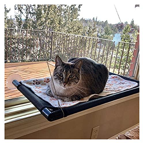 QAZXS Cat balcony hammock Bearing 20kg Cat Sunny Seat pet waterproof fabric Cat bed cat climbing sleeping mattress single layer double 0418 (Size : Large)
