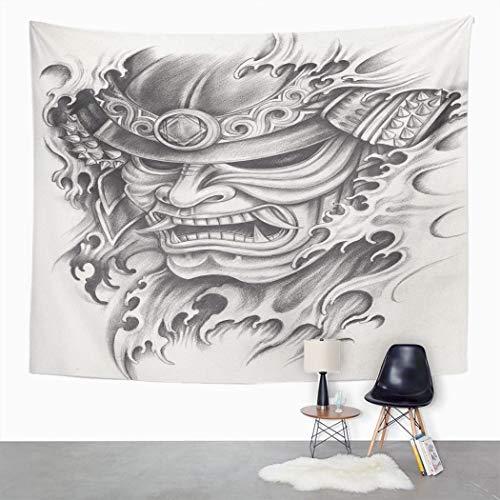 Y·JIANG Wandteppich Samurai Krieger Samurai Art K...