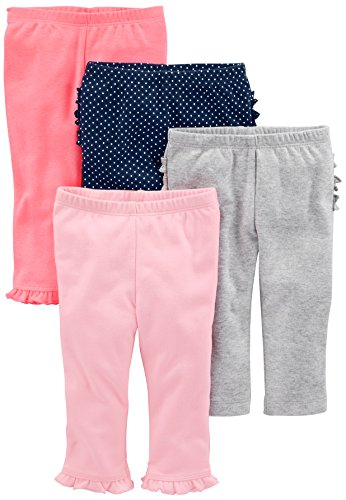 Simple Joys by Carter's Baby Mädchen (0-24 Monate) Hose rosa Bright Pink/Navy Dot Ruffle/Gray Ruffle/Light Pink 12 Months