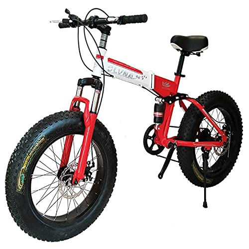 Bicicleta MARCO DE ACERO DE ALTO CARBONO DE CARBONO DUAL SUSPENSIÓN COMPLETA DUAL DUAL DISCO FRENO EJE TRASERO Freno 20-26 pulgadas Rueda 7-30 Equipo de velocidad ( Color : Red , Size : 26in )