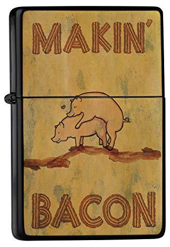 Accendino Benzina Ricaricabile Antivento Makin maiali Bacone herzelnde