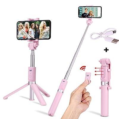 "Selfie Stick,31"" Waterproof Selfie Stick Adjustable Aluminium with Tripod Stand for GoPro Hero 6 5, DSLR& Digital Camera+Bluetooth 4.0 Shutter Remote for iPhone X 8 7 6 Plus"