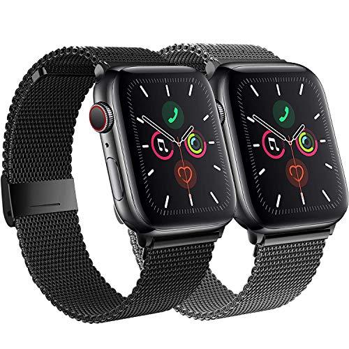 SSEIHI Compatible Cinturino per Apple Watch Cinturino 38mm 40mm 42mm 44mm, Cinturini di Ricambio in Acciaio Inossidabile Loop con Magnete Compatibile con IWatch Series SE/6/5/4/3/2/1