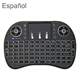 Sprachunterstützung: Spanisch I8 Air Mouse drahtlose Tastatur mit Berührungsfläche for Android TV Box & Smart TV & PC Tablet & Xbox360 & PS3 & HTPC IPTV, Wireless Keyboard LiMinHua