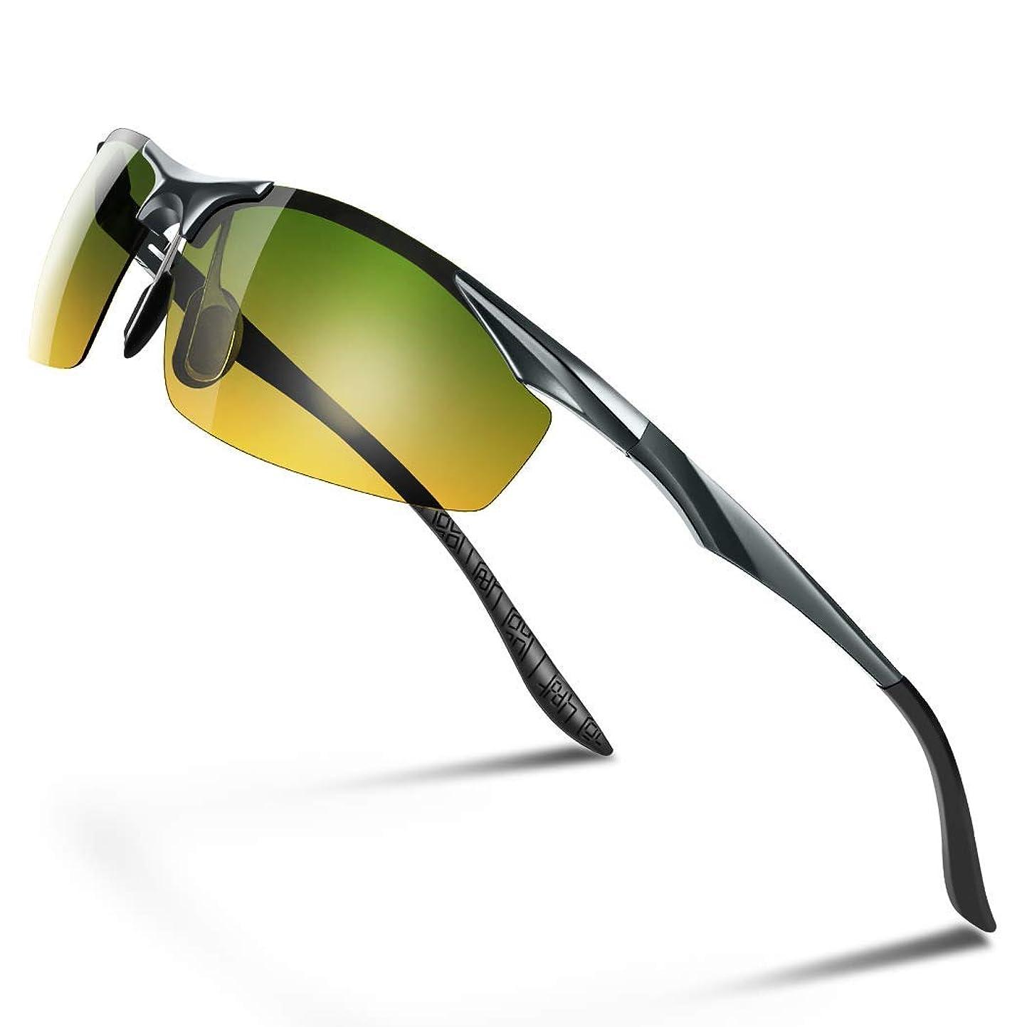 用心するスナックミュウミュウGlazata 偏光サングラス UV400 紫外線カット 超軽量 メタルフレームスポーツサングラス ドライブ/野球/自転車/釣り/ランニング/ゴルフ/運転 男女兼用