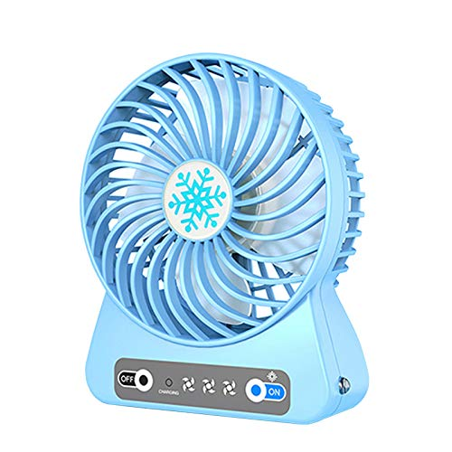 Mini Ventilador USB Silencioso - Ventilador De Mesa - 3 Ajustable Velocidades, para Personal Portátil De Escritorio Hogar Oficina O Viaje, Ventilador Silencioso(Azul)