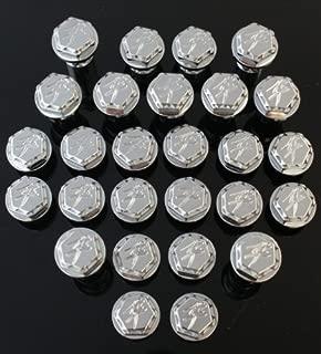 Ransom Machine Works - 161 - Suzuki Hayabusa Engraved Scale Cut Fairing Dress Up Hex Bolt Kit (27 Pieces) (Chrome) Fits: Suzuki Hayabusa 99-07
