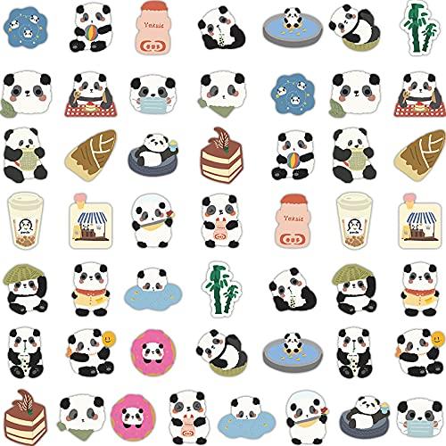 ZXXC 50 Piezas de Dibujos Animados de protección Nacional Animal Lindo Panda Maleta Caja del teléfono móvil Impermeable decoración del Coche Pegatinas