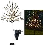 Bonetti LED Lichterbaum mit 200 warm-weißen Lichtern beleuchtet, 150 cm hoch, die Lichterzweige...