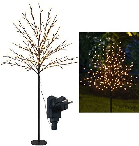 Bonetti LED Lichterbaum mit 200 warm-weißen Lichtern beleuchtet, 150 cm hoch, die Lichterzweige sind flexibel, Weihnachtsbaum mit Lichterkette
