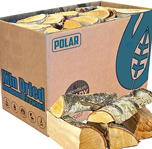 Boxed Kiln Dried Firewood - Premium 25cm Hardwood Logs Dried Under 20% -...