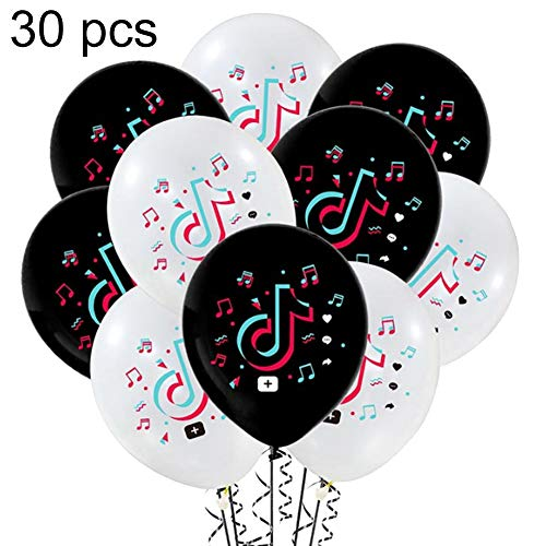 Globos de cumpleaños TIK Tok, 30pcs Suministros de decoraci