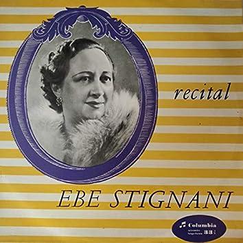 Ebe Stignani (Recital)