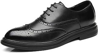 [ランボ] メンズ靴 ビジネスシューズ 通気快適 レースアップ ドレスシューズ 黒 革靴 履きやすい 通気快適 滑り止め フォーマル 結婚式 冠婚葬祭 ビジネス シューズ 大きいサイズ 27