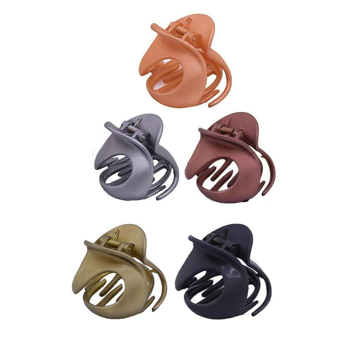 名門評論家リフト5つのシンプルなヘアアクセサリー 強力な固定ヘアクリップ 滑り止めヘアクリップ 多機能ヘアクリップ