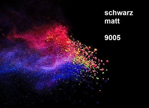 PULVERLACK RAL 9005 tiefschwarz matt 1 KG, Pulverbeschichten Powder Coating