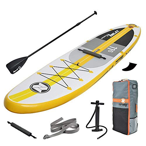 Kayaks hinchables Tabla de Paddle Surf Hinchable Kit, Bomba de Aire Sup con manómetro, Paleta Ajustable/Mochila Duradera Grande, 6 Pulgadas de Grosor, Modelo Sprint, Kit de Modelo Race,A4
