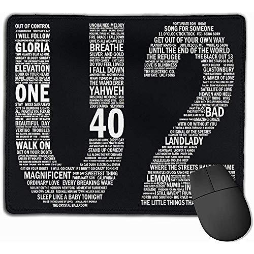 Muismat met ontwerpen U2 Band Mousepad Gaming Mouse Pad