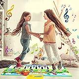 tapis de jeux enfant, Jouet Enfant 1 2 3 4 5 6 ans Garçons Filles-Tapis Tapis Musical Piano Enfant, Tapis Clavier Musical Tactile, Tapis d éveil et de jeux cadeau bebe Garçons Filles 1 - 6 ans