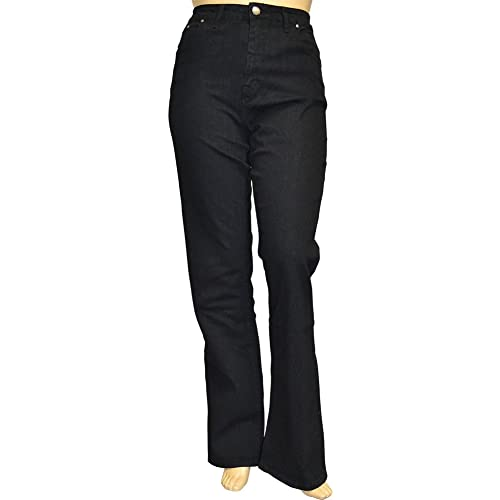 82c079e1922 Alfa Global Women s Plus Size Tall Tummy Control Bootcut Delux Stretch Denim  Pants