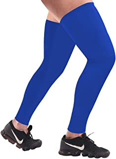 HuiYee Sports Compression UV Long Leg Sleeves for Running Basketball Football Cycling and Other Sports(3 Sizes, 1 Pair)