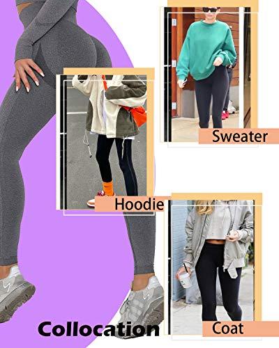 Yutdeng Leggins Deportivos Mujer Push Up Mujer Mallas Pantalones de Yoga de Punto Sin Costuras Mujeres Correr Medias Deportivas Cintura Alta Leggings
