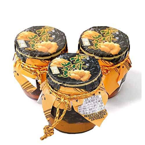 雲丹(うに)めかぶ 450g(瓶150g3本セット) めかぶの佃煮と塩ウニ /常温便
