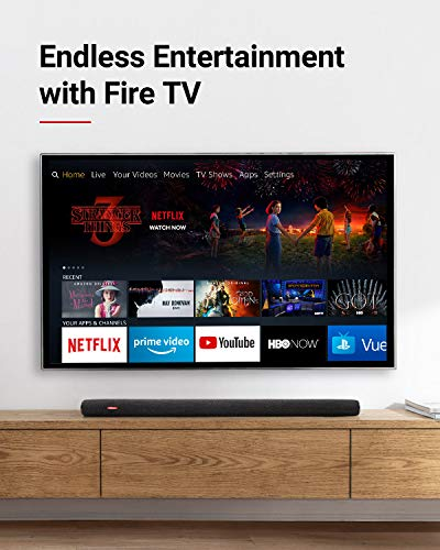 Nebula Soundbar – Fire TV Edition, 4K HDR Support, 2.1 Channel, Built-In Subwoofers, Voice Remote with Alexa