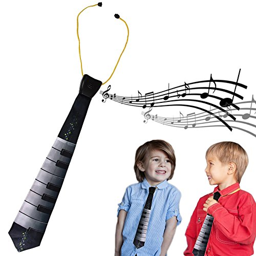 Piano Necktie Musical Play Me A Song Electric Kids Toy Piano Necktie Costume Dress Up Party Holiday Accessory Gift