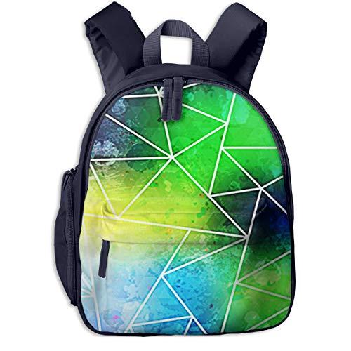 Kinderrucksack Kleinkind Jungen Mädchen Kindergartentasche Mode Dreieck Grunge Effekt Backpack Schultasche Rucksack