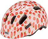 ABUS Smiley 2.1 Kinderhelm - Kleinkinderhelm mit Rücklicht - für Mädchen und Jungs - 81796 - Rosa mit Erdbeermuster, Größe S