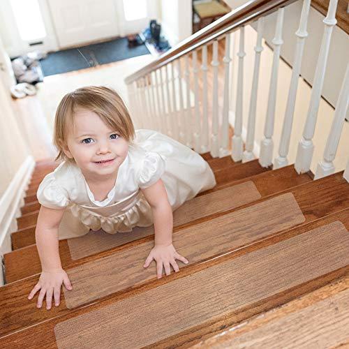 Hivexagon 15 Antirutschstreifen Treppe Set, Stufenmatten Set für Treppenstufen, Treppenbestandteile Trittstufen Rutschfester Sicherheits für Kinder, Senioren und Haustiere (24