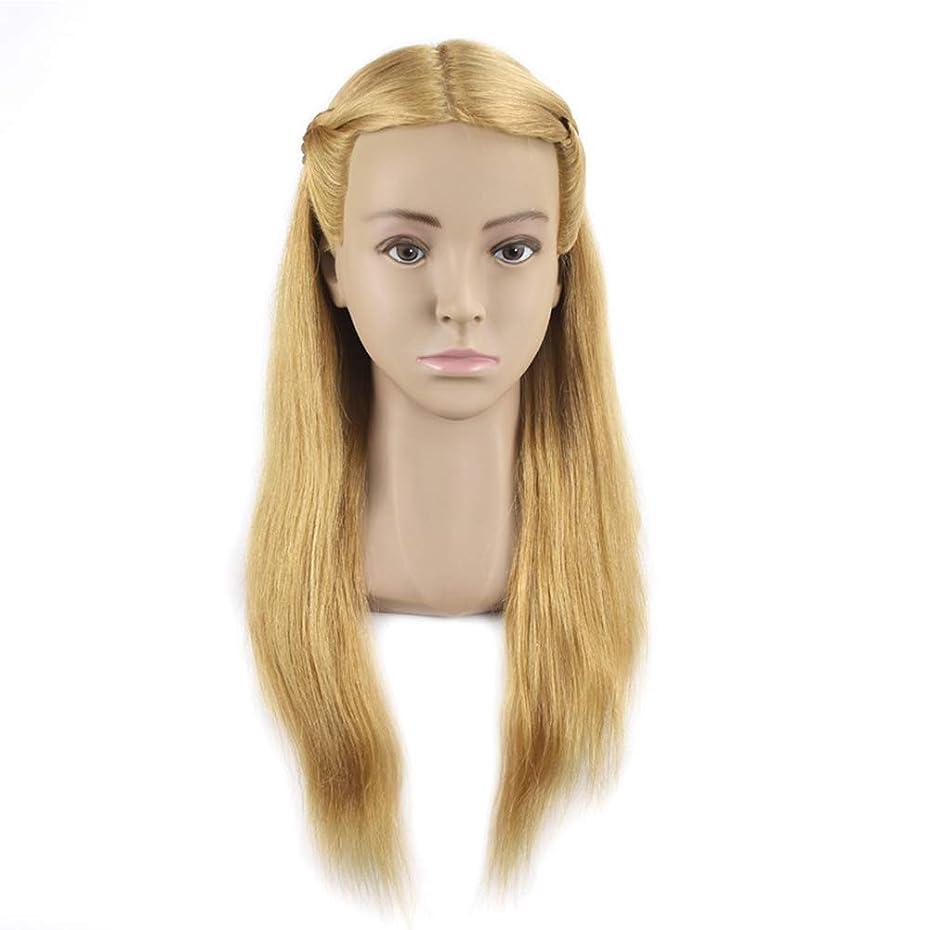 無関心剥離周囲完全な人毛ヘアスタイリングモデルヘッド女性モデルヘッドティーチングヘッド理髪店編組髪染め学習ダミーヘッド