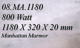 Calefacción por infrarrojos de mármol de calefacción por radiadores planos Magma calefacción 08A mA, 1180R Con 2 enchufes de alta calidad banda de control-Leuchten, interruptor y ajuste de nivel para control de temperatura preciso